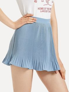 To find out about the Ruffle Hem Pleated Skirt at SHEIN, part of our latest Skirts ready to shop online today! Lolita Fashion, Pleated Skirt, Gym Shorts Womens, Skirts, Lolita Style, Shopping, Dresses, Fit, Vestidos