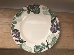 "Emma Bridgewater: ceramic fig plate, 8-1/2"" (sold on eBay for £62.30, 29 October 2020)"