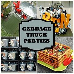 Great Garbage Party Ideas for Boys...snacks, crafts, decorations