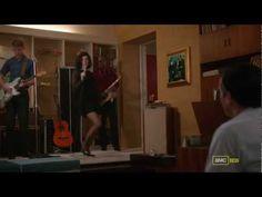 Megan sings Zou Bisou Bisou for Don as his 40th birthday present.