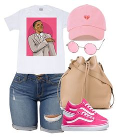 """Obama will be missed."" by cheerstostyle ❤ liked on Polyvore featuring Alexander Wang and Vans"