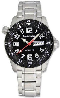 Louis Erard La Sportive Automatic Steel Mens Sport Watch