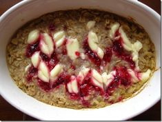 Raspberry Cheesecake Oatmeal.  Looks like dessert for breakfast.  Now this is some oatmeal I've gotta try!