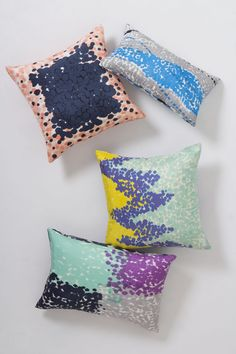 Sky Dip-Dot Pillow - Anthropologie.com