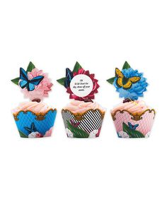 Look what I found on #zulily! Social Soiree Cupcake Wrapper & Topper Set #zulilyfinds