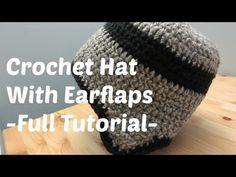 Crochet Hat With Earflaps - Adult Male Size - YouTube