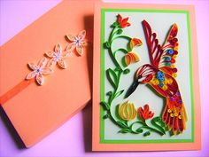 Colourful HummingbirdQuilled Paper ArtFlower girl