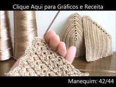 Crochê - Cropped Top Luxury Cordonê - Parte 03/04