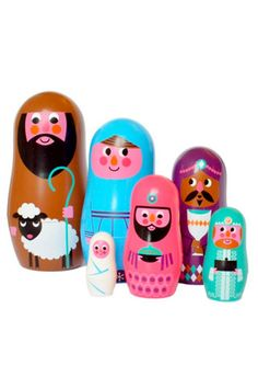 ingela Arrhenius nativity nesting dolls