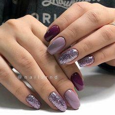 Домашний маникюр | Дизайн ногтей новинки Classy Nails, Glam Nails, Fancy Nails, Beauty Nails, Beauty Makeup, Nailart, Gel Manicure, Shellac, Manicure Ideas