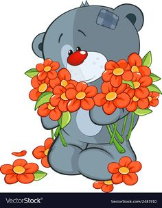 A stuffed toy bear cub with a empty blank cartoon vector image on VectorStock Free Vector Images, Vector Free, Bear Cubs, Bunch Of Flowers, Bear Toy, Bowser, Adobe Illustrator, Stuffed Toy, Cartoon