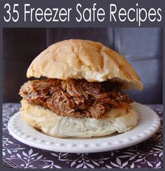 BBQ Pulled Pork Sandwiches (pork sirloin tip or loin roast, Montreal steak seasoning, Coke, Sweet Baby Ray's bbq sauce) dinner tomorrow! Make Ahead Freezer Meals, Crock Pot Freezer, Freezer Cooking, Cooking Tips, Cooking Recipes, Meal Recipes, Recipies, Pork Recipes, Yummy Recipes