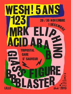 poster/affiche by La Direction (Pedro & Sylvie) (France) for the Poster Competition - Graphic Design Festival Scotland