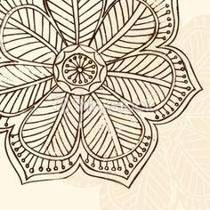 Hand-drawn Abstract Henna Flower
