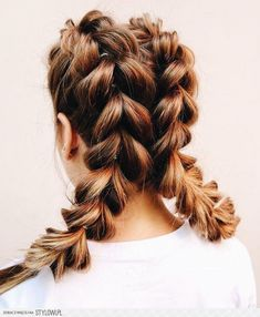 French pull through braid pig tails