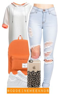 """""""2/24/16"""" by codeineweeknds ❤ liked on Polyvore featuring Yesimfrench, Herschel Supply Co., adidas, Casetify, women's clothing, women, female, woman, misses and juniors"""