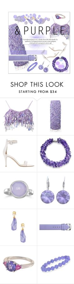 """And purple"" by fabfabiana ❤ liked on Polyvore featuring Ashish, Gianvito Rossi, BillyTheTree, Swarovski, Bounkit, Philip Stein, Tiffany & Co. and Ross-Simons"