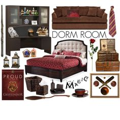 Gryffindor Dorm Room Décor By Fishystarz On Polyvore Featuring Interior,  Interiors, Interior Design, Part 78