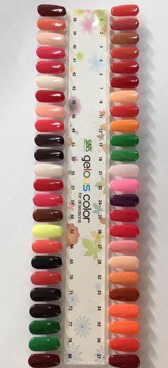 nails in 2019 Dip Nail Colors, Sns Nails Colors, Gel Polish Colors, Fun Nails, Colorful Nail Designs, Cute Nail Designs, Nail Dipping Powder Colors, Acrylic Nails At Home, Nail Design Video
