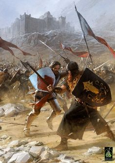 medieval battle- oh yes! There will be a battle knight medieval battle- oh yes! There will be a battle. Fantasy Battle, Medieval Fantasy, Fantasy Kunst, Fantasy Art, Writing Fantasy, Yoga Kunst, Game Of Thrones Artwork, Concept Art World, Yoga Art