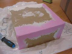 Fake Wedding Cake Using Paste Boxes (Paper Mache Boxes) Tutorial!