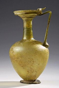 Roman Glass Jug with a Circular Spout | 3rd Century AD, 4th Century AD | Price $0.00 | Roman | Glass | Vessels | eTiquities by Phoenix Ancient Art