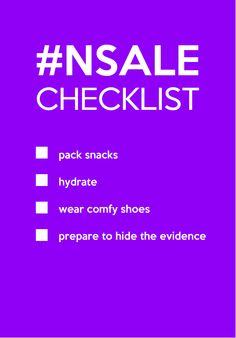 Ready?! Nordstrom Anniversary Sale Shopping Checklist