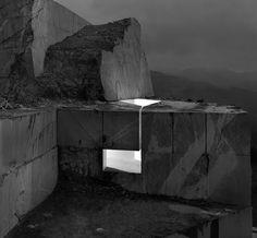 Murs de lumière by Aitor Ortiz Guggenheim bilbao Museoa - Espagne Landscape Architecture, Interior Architecture, Interior And Exterior, Light Architecture, Bilbao, Light Installation, Land Art, Dieselpunk, White Photography
