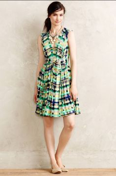 Anthropologie Dress Large Green Large | eBay