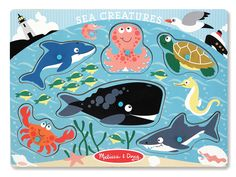 Melissa and Doug Sea Creatures Peg Puzzle 3384 for sale online Toddler Fun, Toddler Toys, Baby Toys, Sports Games For Kids, Puzzles For Toddlers, Preschool Toys, Preschool Learning, Teaching, Melissa & Doug