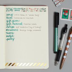 Create a spread for all of your favorites from the current year and add to the list as the month progresses.