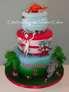 Tiered Dr. Suess Cake