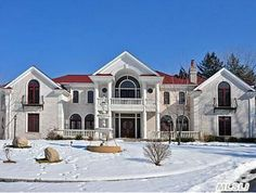 Colonial style home in Muttontown NY has 8 bedrooms, 8 full baths on 3 acres. Price 3,998,000