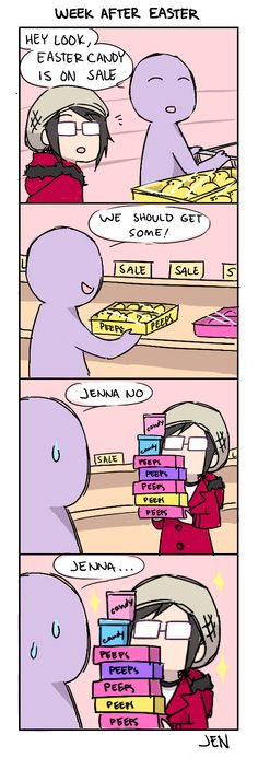The Week After Easter ~ Peeps candy sale! | 4-Panel-Life (2013-08-13) by Jen-Jen-Rose