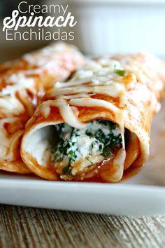 Creamy Spinach Enchiladas – Six Sisters' Stuff