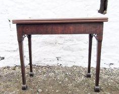 Georgian mahogany fold over tea table