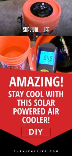 Solar Powered Air Cooler | Amazing! Stay Cool With This Solar Powered Air Cooler! [DIY]