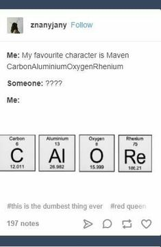 Chemistry made it