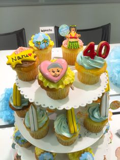 ギークス様カップケーキ Happy 40th, Happy Birthday, Cup Cakes, Happy Brithday, Urari La Multi Ani, Cupcake, Cupcakes, Brioche, Happy B Day