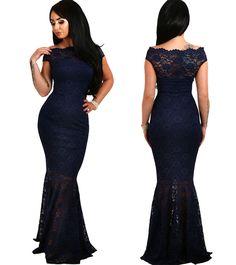 Εντυπωσιακό μάξι φόρεμα από φλοράλ δαντέλα Σε κομψή γοργονέ γραμμή Ελαστικό  και εφαρμοστό Με φόδρα εως d314ffb329d