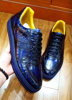 Designer Lace up Alligator Shoes Casual Alligator Sneakers for Men - Alligator Shoes and Crocodile Shoes for Sale - Men's Shoes Buy Mens Shoes, Mens Fashion Shoes, Shoes Men, Casual Sneakers, Casual Shoes, Shoes Sneakers, Men's Shoes, Sneaker Dress Shoes, Teenage Boy Fashion