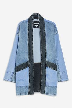 Denim Kimono Jacket by Native Youth Denim Kimono Jacket by Native Youth – Jackets & Coats – Clothing – Topshop Mode Kimono, Kimono Jacket, Men's Jacket, Diy Jeans, Topshop Outfit, Kimono Fashion, Denim Fashion, Sewing Clothes, Diy Clothes