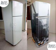 Envelopamento de geladeira com imagem em São Paulo