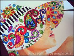 Draw Doodle and Decorate. Love this mix doodles-fashion artwork