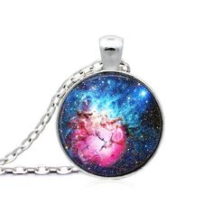 Fine or Fashion: FashionItem Type: Necklacesis_customized: YesPendant Size: ClassicNecklace Type: Pendant NecklacesGender: UnisexMaterial: NoneChain T Geek Jewelry, Jewelry Necklaces, Fashion Jewelry, Jewellery, Galaxy Space, Astronomy, Cosmos, Christmas Bulbs, Sci Fi