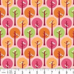 This is for 1 yard of Riley Blake Summer Song fabric. This fabric is cotton. This fabric is excellent quality with good drape. Sewing Hacks, Sewing Projects, Sewing Tips, Sewing Ideas, Pink Trees, White Trees, Orange Trees, Fabric Design, Pattern Design