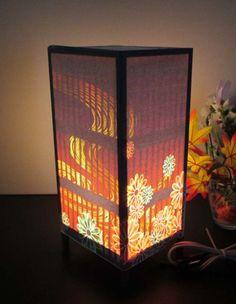 和格子窓の花園≪夢灯かり≫安らぎの癒しライトスタンド・3形 - しょっぷ・山田