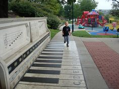 Working concrete piano, outside of Children's Mercy Hospital