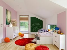 kinderzimmer im musterhaus alpenchic von baufritz mit traumhaus finden und. Black Bedroom Furniture Sets. Home Design Ideas