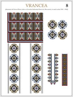 eleva - ie Vrancea (JPEG Image, 1200 × 1600 pixels) — Масштабоване Russian Embroidery, Embroidery Motifs, Cross Stitch Designs, Cross Stitch Patterns, Hama Beads, Traditional Outfits, Beading Patterns, Pixel Art, Folk